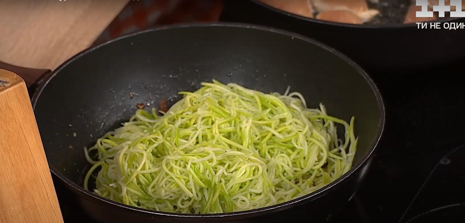 спагетти кабачки