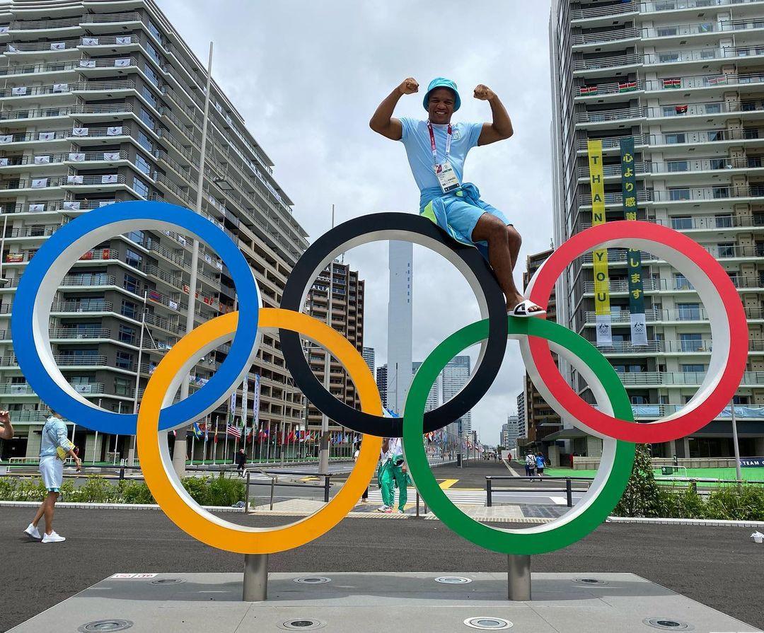 Жан Беленюк на олимпиаде в Токио