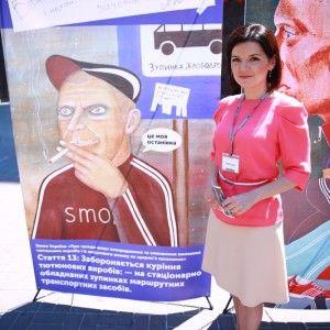 Марічка Падалко проти куріння на дитячих майданчиках та в закладах харчування
