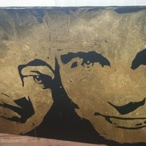 Соломію Вітвіцьку з чоловіком художники намалювали золотом і шоколадом