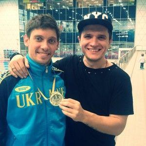 Анатолій Анатоліч підтримав Іллю Квашу на відкритому Кубку України зі стрибків у воду