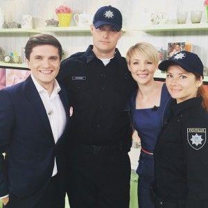 Нова українська поліція побувала у студії Сніданку з 1+1