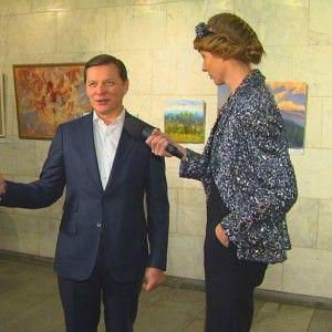 Катя Осадча показала Олегу Ляшку пародію на нього
