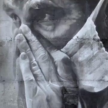 На недобудованому енергоблоці Чорнобильської АЕС з'явився велетенський портрет (фото)