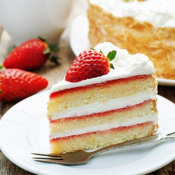 Рецепт смачного полуничного торта
