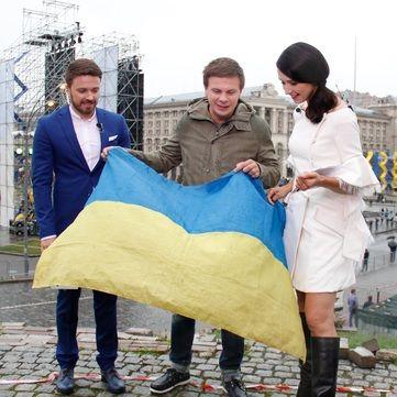6 найекстремальніших місць світу, де Дмитро Комаров розгорнув український прапор