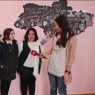 Як створити грифельну карту світу на стінах школи