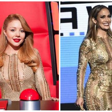 Кому більше пасує сукня: Тіна Кароль vs Дженніфер Лопес