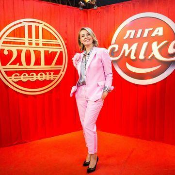 Олена Кравець сама придумала вбрання для гала-концерту «Ліги сміху» (фото)