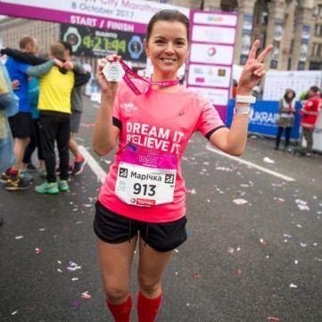 Марічка Падалко здолала свій перший 42-кілометровий марафон