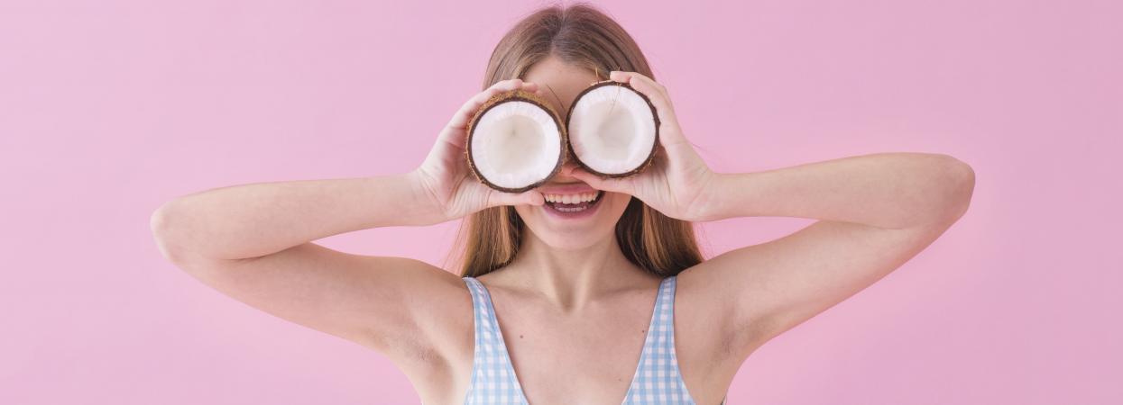 кокос девушка фото