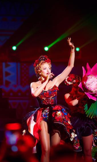 Оля Полякова на концерті Королева ночі