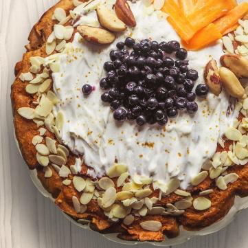 на фото вкусный пирог