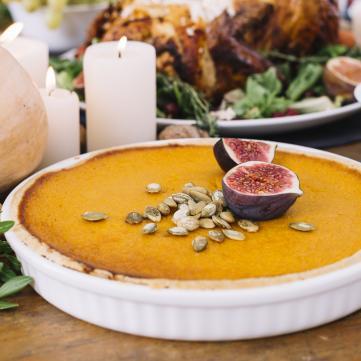 Зірковий рецепт: Відкритий гарбузовий пиріг від Руслана Сенічкіна