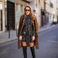 пальто платье сапожки