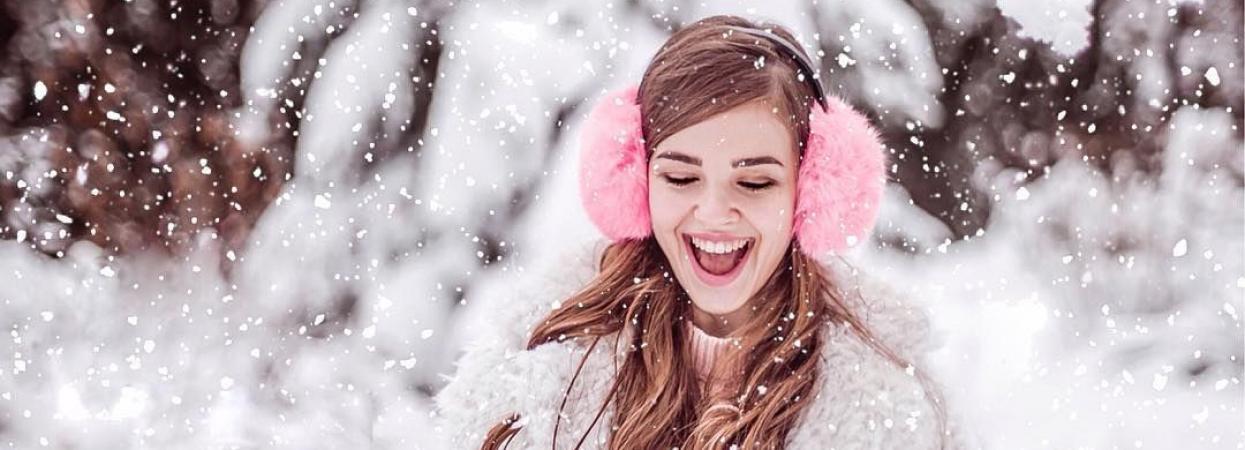дівчина зима