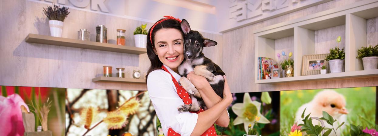 Валентина Хамайко з песиком