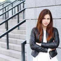 на фото актриса серіалу Школа Власта Грабовська