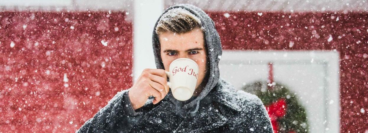 чоловік, зима, сніг