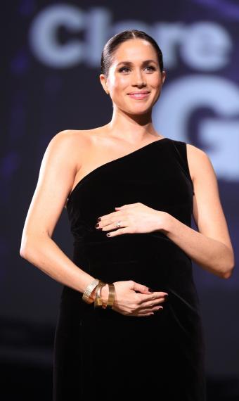 Меган Маркл вагітна, у чорній сукні