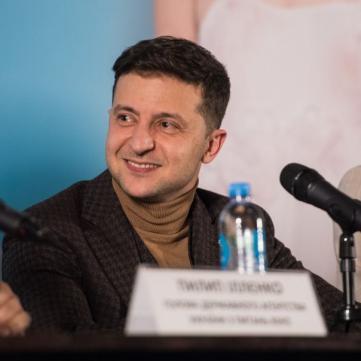 Володимир Зеленський і Настя Коротка