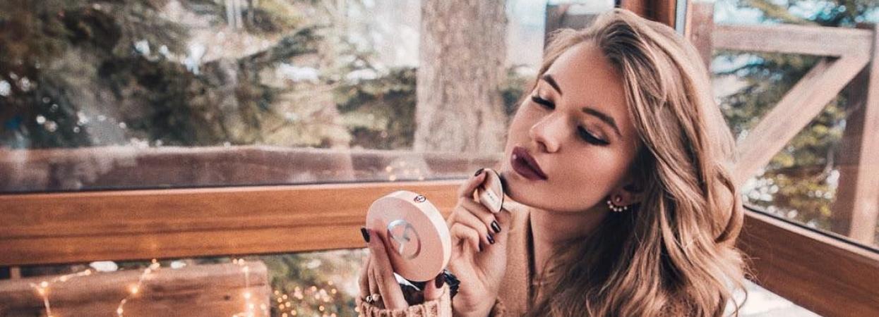 макіяж дівчина помада