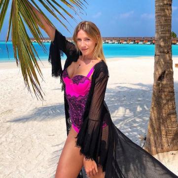 Леся Нікітюк на Мальдівах
