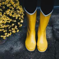 желтые резиновые ботинки