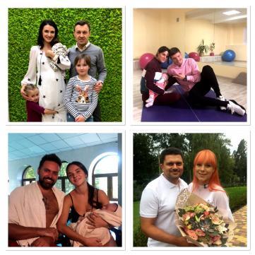 Пологи в прямому ефірі, плавання від народження та бейбі-йога: українські знаменитості показують своїх немовлят
