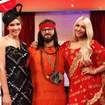 Гра на роздягання: Оля Полякова та Дзідзьо прокоментували свій тантричний секс у комедії «Свінгери 2»