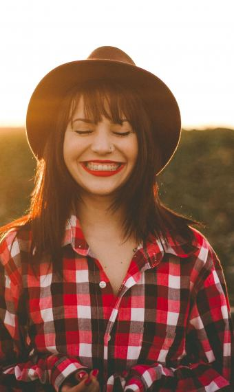 Дівчина, щастя