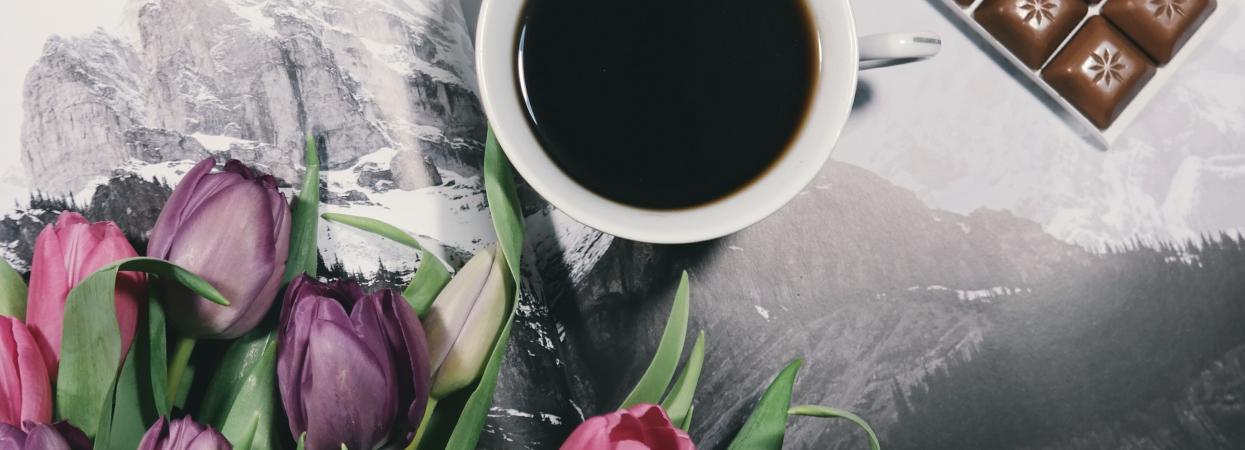 квіти й кава