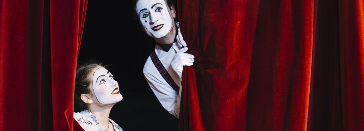 театр, занавес, кулисы, пантомима, пантомим