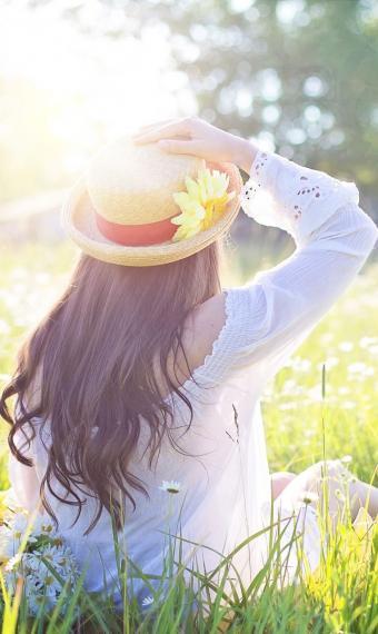 дівчина, сонце, цифра дня