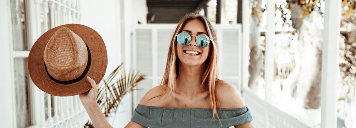 Солнезащитные очки, девушка в очках