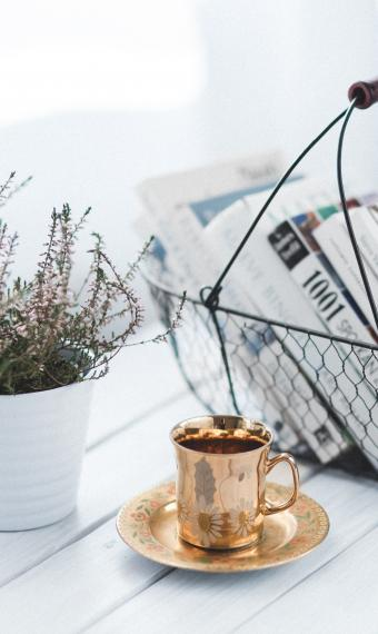 квіти, кава, цифра дня