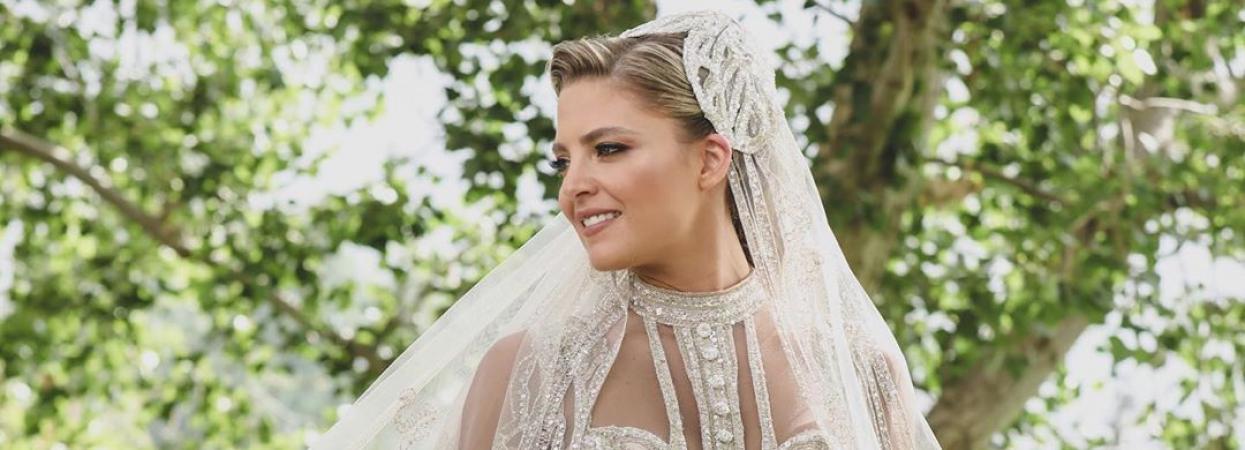Крістіна Мурад у весільній сукні від Елі Сааба