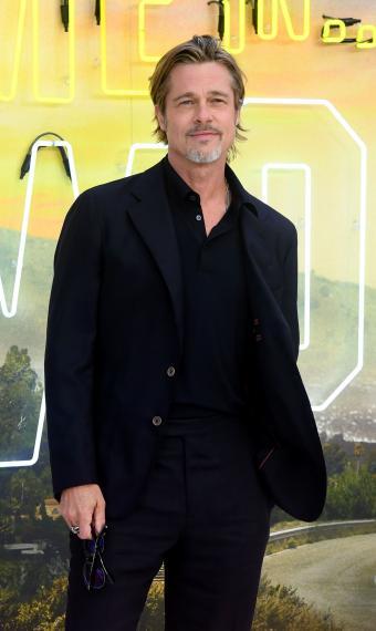 Брэд Питт на премьере Однажды в Голливуде
