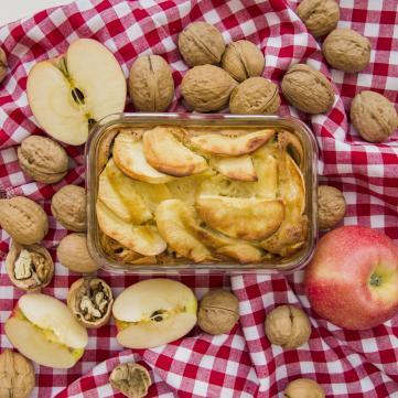 запіканка з яблуками