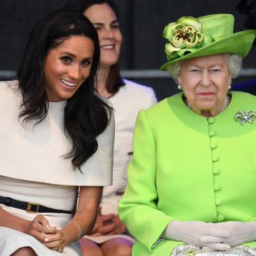 Меган Маркл и королева Елизавета 2