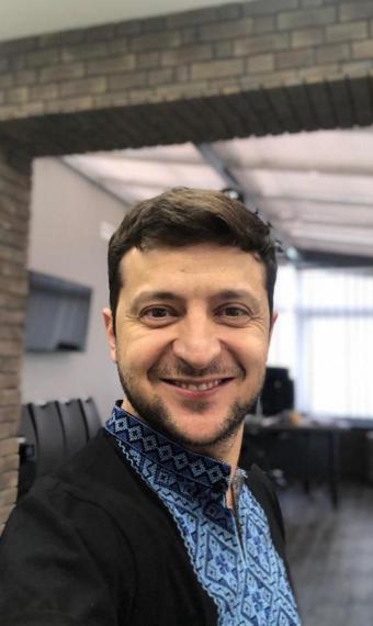 Владимир Зеленский в вышиванке