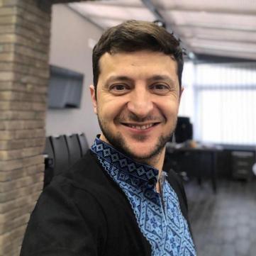 Володимир Зеленський у вишиванці