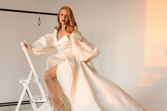 тина кароль в пышном белом платье