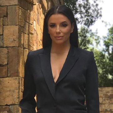 Єва Лонгорія в брючному костюмі