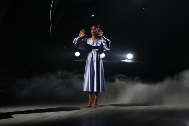 Людмила Барбір виконала танець про принцесу Діану.