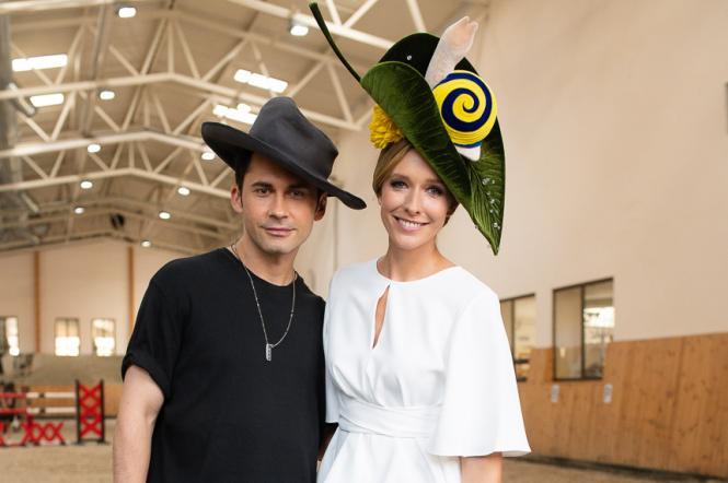 Катя Осадчая и Дан Балан на Украинском неделе моде