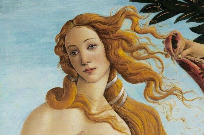 Фрагмент із картини Сандро Боттічеллі «Народження Венери»