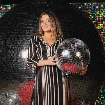 Наталя Могилевська на презентації Танців з зірками.