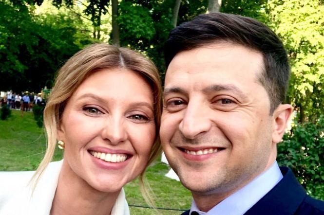 Президент України Володимир зеленський та перша леді Олена Зеленська.