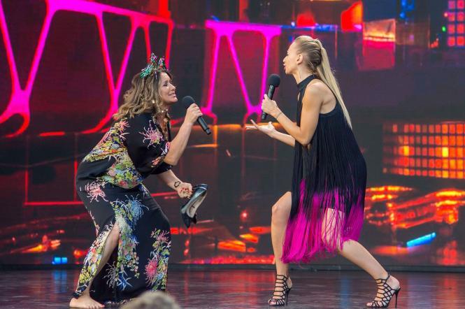 Наталя Могилевська та Ірина Сопонару на Лізі Сміху